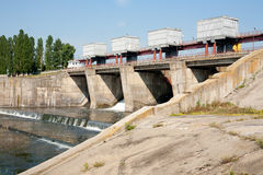 Power plant dam Royalty Free Stock Image