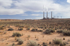 Power plant. In the desert near Page, Arizona Royalty Free Stock Photography