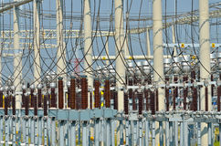 Electrical power plant details Royalty Free Stock Image