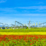 Power plant and distribution station Stock Images