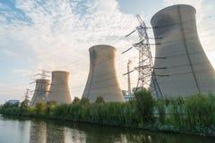 Power plant at dusk Royalty Free Stock Image