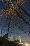 Power Plant and Electric Pylon Stock Images