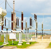 Power plant. Electricity power plant and nature stock photography