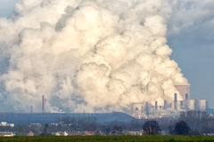 Power plant emission Stock Image