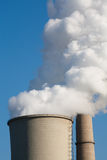 Power plant emissions Royalty Free Stock Images