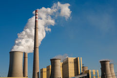 Power Plant Emissions Royalty Free Stock Photography