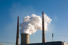 Power plant emissions Royalty Free Stock Image
