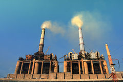 Power plant emissions Stock Image