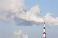 Power plant emissions Royalty Free Stock Photo