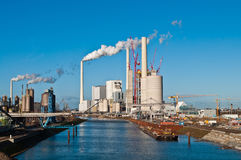 Power plant erection site. Construction site for a new coal fired power plant in Mannheim in Germany Stock Photos