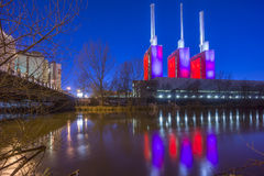 Power Plant at evening Stock Photography