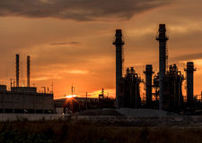 Power plant in the evening. Royalty Free Stock Photography