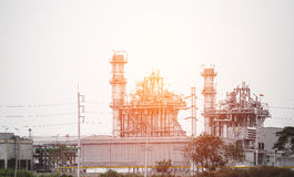 Power plant with the field. Royalty Free Stock Photography