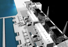 Power plant Fukushima, Japan  Royalty Free Stock Images