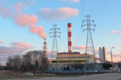 Power plant in Gdynia Stock Photos