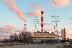 Power plant in Gdynia Royalty Free Stock Images