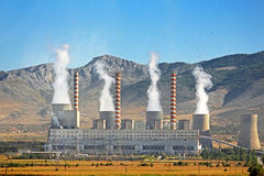Power plant in Greece Royalty Free Stock Image