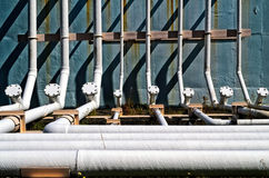 Power Plant Ground Pipes Royalty Free Stock Image
