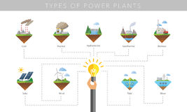 Power plant icon vector set. Power plant icon vector symbol set on white Stock Photo