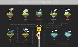 Power plant icon vector symbol set Stock Photos