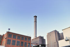 Thermal power plant outdoor architecture Royalty Free Stock Images