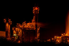 Power plant industrial Stock Image