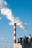 Power plant. Industrial power plant with smokestack Royalty Free Stock Photography