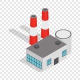 Power plant isometric icon Stock Images