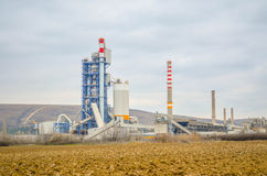 Power plant. A large power plant with towers and pipes Stock Images