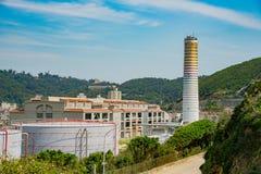 The power plant of Matsu. At Nangan, Taiwan Stock Photo