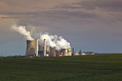 Power plant. In middle germany Royalty Free Stock Photography