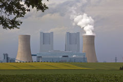 Power plant. In middle germany Royalty Free Stock Photo