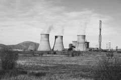 Power Plant. Into the middle of nowhere Stock Photos