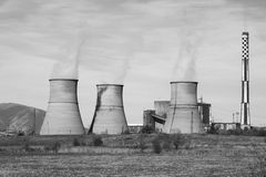 Power Plant. Into the middle of nowhere Royalty Free Stock Images