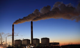Power plant in morning Royalty Free Stock Image