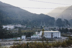 Power plant with mountain in the sideway near Bagdogra. Darjeeling, India Stock Photos
