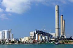 Power plant near coast Royalty Free Stock Photography