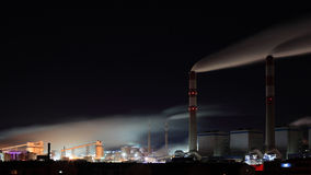 Power plant in night Royalty Free Stock Image