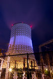 Power plant at night in Brussels Royalty Free Stock Photography