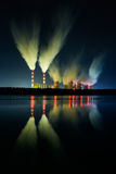 Power plant at night. Stock Photo