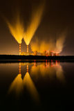 Power plant at night. Royalty Free Stock Images