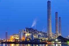 Power plant at night Royalty Free Stock Photo