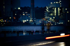 Power plant by night Royalty Free Stock Photography
