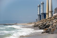 Power Plant On The Beach Stock Image