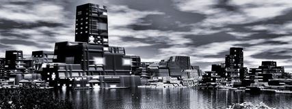 Power plant, panoramic Stock Image