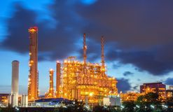 Power plant in the petrochemical plant. At twilight Stock Image