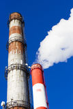 Power plant pipes Royalty Free Stock Photo