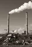 Power plant pollution Royalty Free Stock Image