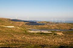 Power Plant Renewable Energy. Wind Turbines and Solar Panels Royalty Free Stock Image