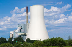 Power plant on the Rhine Royalty Free Stock Images